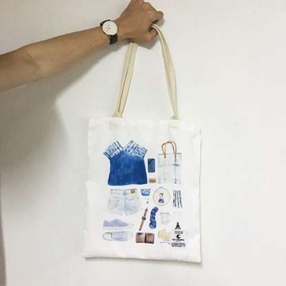 Picture of Girl Plan Fabric Tote Bag