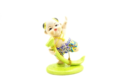 Picture of Banana rib hobbyhorse riding (Karn-Kluay) Ceramic doll