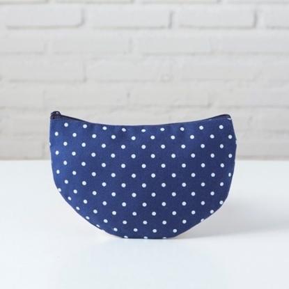 Picture of Canvas pencil case - Curve Dot blue