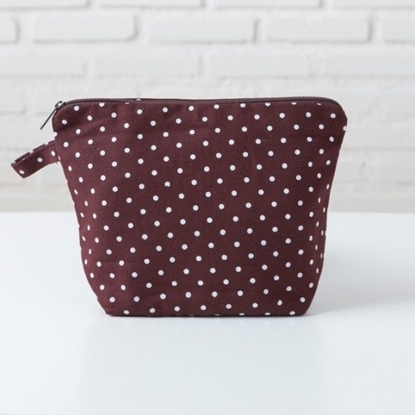 Picture of Canvas pouch - REC Dot brown