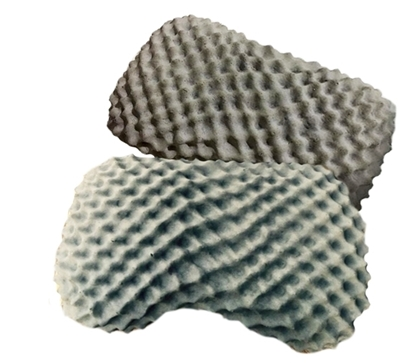 Picture of Charcoal Heart Natural Latex / Rubber Pillow