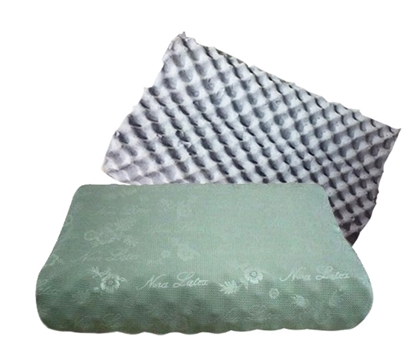 Picture of Charcoal Square Natural Latex / Rubber Pillow