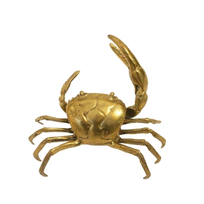 Picture of Little crab brass home décor size 17 cm.