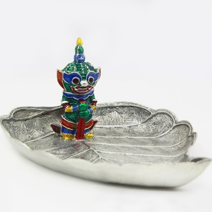 Picture of Loyfar Giant on Bodhi leaf hand-crafted tray