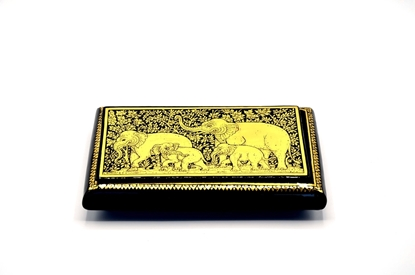Picture of Elephant box Thai lacquerware