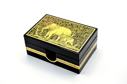 Picture of Elephant card box Thai lacquerware