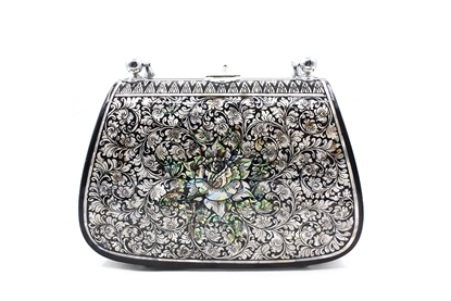 Picture of Mother Of Pearl Black Star Bag