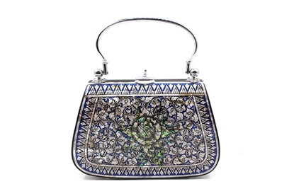 Picture of Mother Of Pearl Blue Star Bag