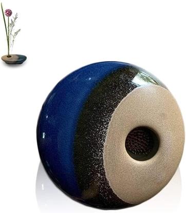 Picture of แจกันจัดดอกไม้สไตล์ญีปุ่น(อิเคบานะ) 6 นิ้ว - สีน้ำเงิน Blue Horizon Style