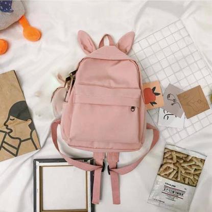 Picture of กระเป๋าเป้แฟชั่น สีชมพู มีหูกระต่าย