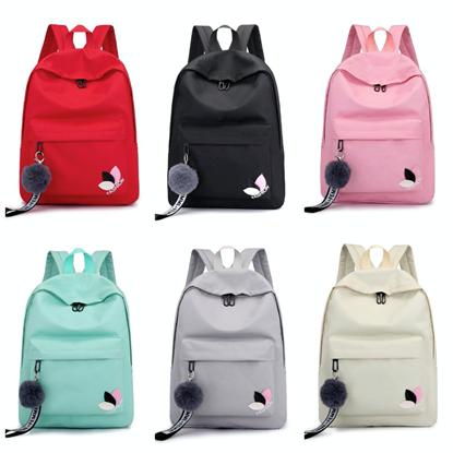 Picture of กระเป๋าเป้แฟชั่น คละสี แถมพวงกุญแจพู่