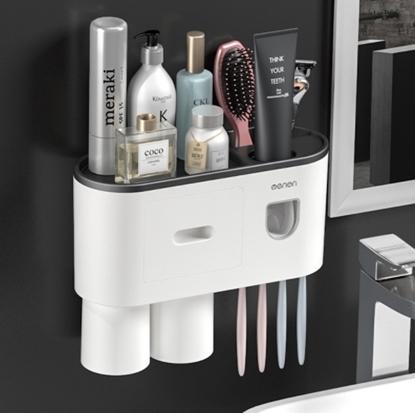 Picture of กล่องเก็บแปรงสีฟันในห้องน้ำ พร้อมแก้ว 2 ใบ