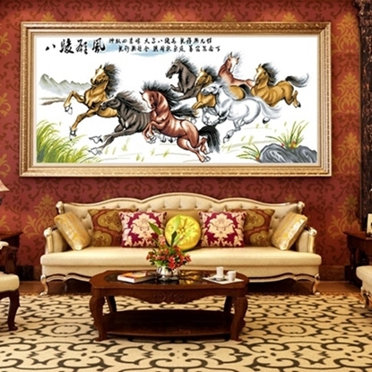 Picture of Lucky 8 Horses Printing picture